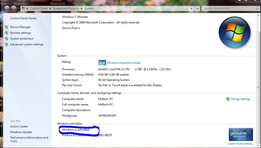 Windows Loader 2 2 3 - Siêu phẩm Crack Win 7 nhanh và tốt