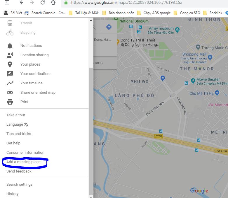 bando map 3 - Cách đánh dấu địa điểm trên Google maps chuẩn chỉ trong 3 thao tác