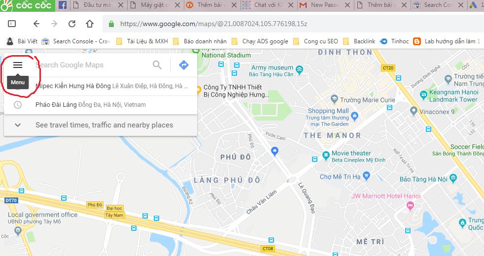 bando map - Cách đánh dấu địa điểm trên Google maps chuẩn chỉ trong 3 thao tác