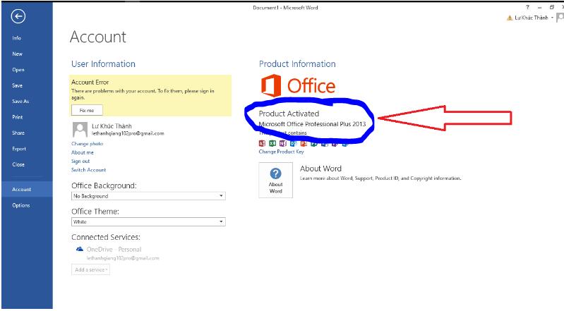 office - Cách kiểm tra Windows, Office đã Crack - Active hay chưa!