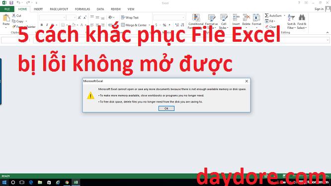 không mở được file excel - 5 cách khắc phục File Excel bị lỗi không mở được đơn giản