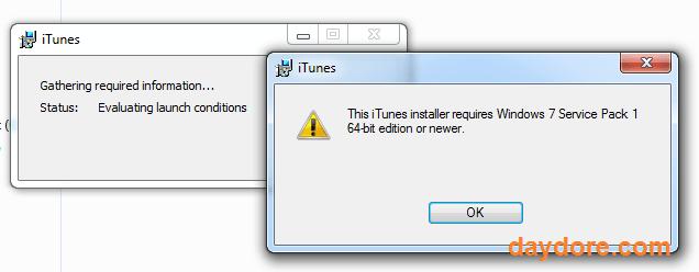 Lỗi không cài được Itunes - Không cài được itunes trên Win 7 64bit - Nguyên nhân và cách khắc phục
