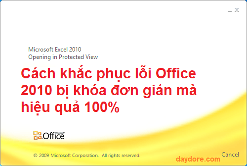 Office Starter 2010 - 2 cách khắc phục lỗi Office 2010 bị khóa đơn giản mà hiệu quả 100%