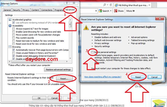 Xóa dữ liệu cá nhân trên IE - 4 cách sửa lỗi hệ thống: java.lang.nullpointerexception: null 100% là được