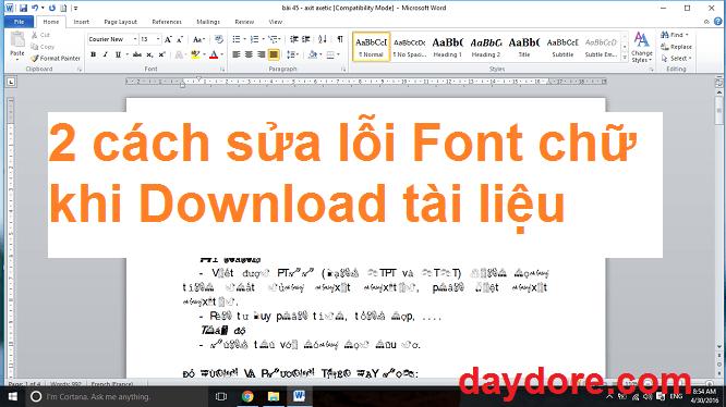 2 cách sửa lỗi Font chữ khi Download tài liệu