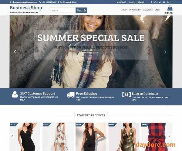 Business Shop - 10 Theme Wordpress bán hàng miễn phí & có phí chuẩn SEO nên dùng