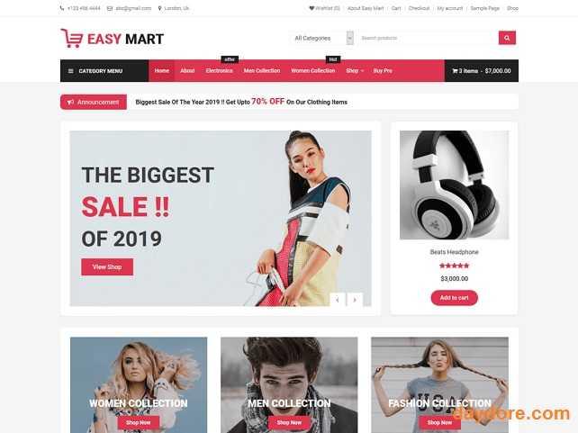 Easy Mart - 10 Theme Wordpress bán hàng miễn phí & có phí chuẩn SEO nên dùng