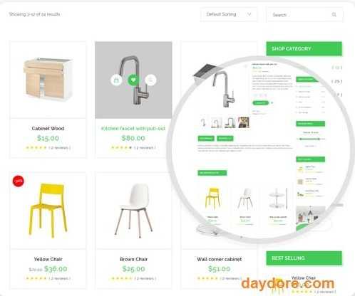 Theme WordPress KitGreen - Modern Kitchen