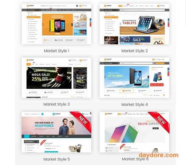 Market Digital Store Fashion Shop - 10 Theme Wordpress bán hàng miễn phí & có phí chuẩn SEO nên dùng