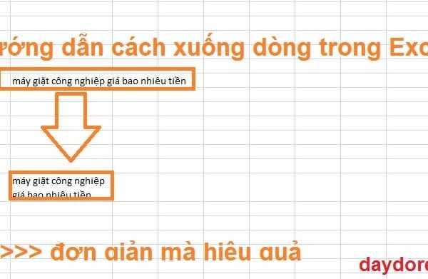 cách xuống dòng trên Excel 600x391 - Chỉ cần học 2 cách xuống dòng trong Excel trên 1 ô là làm được hết