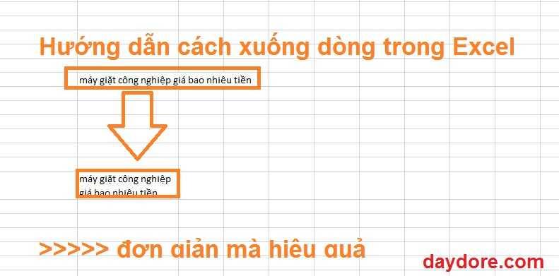 cách xuống dòng trên Excel - Chỉ cần học 2 cách xuống dòng trong Excel trên 1 ô là làm được hết