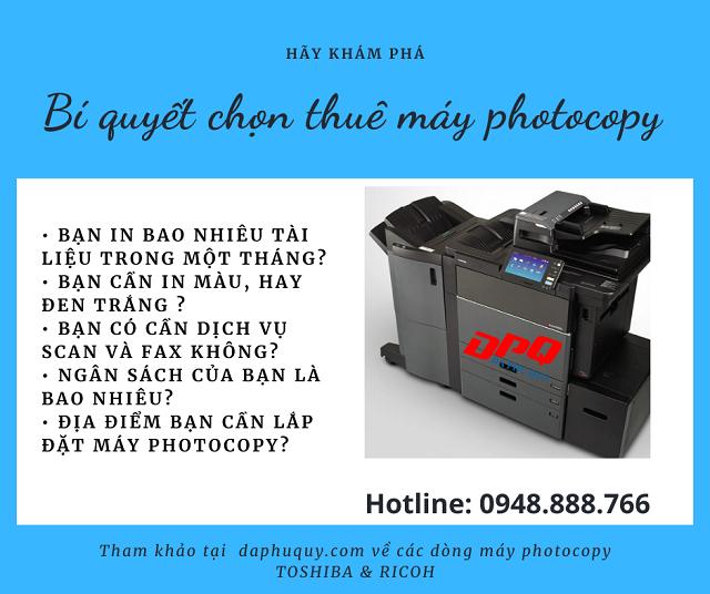 Máy photocopy Đa Phú Quý
