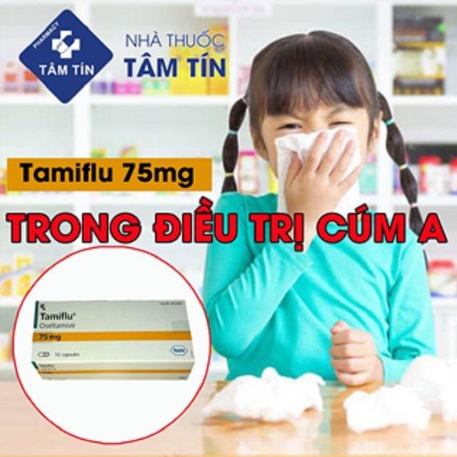 Tamiflu 75mg điều trị cúm A