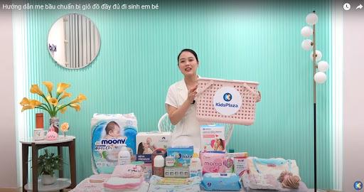 Chuẩn bị giỏ đồ đi sinh cho mẹ với các đồ dùng cần thiết